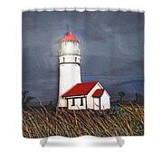 Cape Blanco Glow Shower Curtain