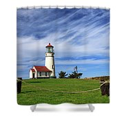 Cape Blanco Lighthouse Above The Rope Shower Curtain