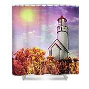Cape Blanco Lighthouse In Oregon Shower Curtain