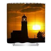Cape Blanco Lighthouse Sunset 2 Shower Curtain