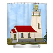 Cape Blanco Oregon Shower Curtain