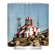 Cape Bonavista Lighthouse, Newfoundland, Canada Old And New Lamp Shower Curtain