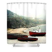 Cape Breton Fishing Boats Shower Curtain