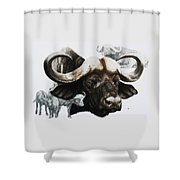 Cape Buffalo Shower Curtain