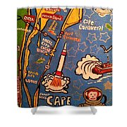 Cape Canaveral 1960 Shower Curtain