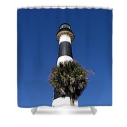 Cape Canaveral Light On The Atlantic Coast Of Florida Shower Curtain