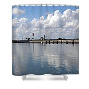 Cape Canaveral Locks In Florida Shower Curtain