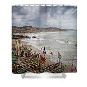 Cape Coast Fishing Village Shower Curtain
