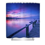 Cape Cod Art Sunrise On Pleasant Bay In July Shower Curtain