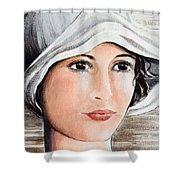 Cape Cod Girl Shower Curtain