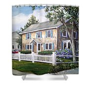 Cape Cod House Painting Shower Curtain