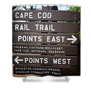 Cape Cod Rail Trail Sign Eastham Shower Curtain