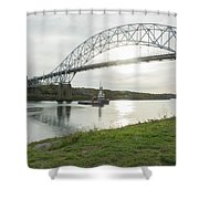 Cape Cod Sagamore Bridge Series #3 Shower Curtain