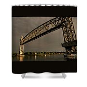 Cape Cod Train Bridge Shower Curtain