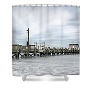 Cape Cod Winter Shower Curtain