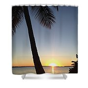 Cape Coral Winter Sunset  Shower Curtain