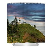 Cape Disappointment After Sunset Shower Curtain