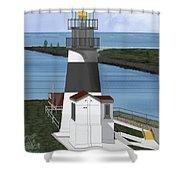 Cape Disappointment At Fort Canby Washington Shower Curtain
