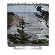 Cape Disappointment Beach Shower Curtain