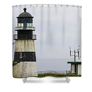 Cape Disappointment Lighthouse Closeup Shower Curtain