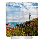 Cape Elizabeth Maine - Portland Head Lighthouse Shower Curtain