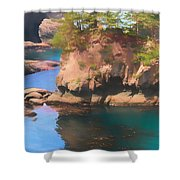 Cape Flattery Reflection Shower Curtain
