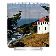 Cape Foulweather Point Shower Curtain