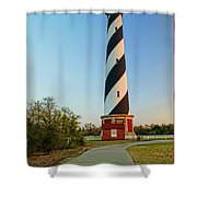 Cape Hatteras Lighthouse In Morning  Shower Curtain