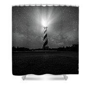 Cape Hatteras Light And The Milky Way Galaxy Shower Curtain