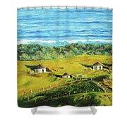Cape Huts Shower Curtain