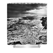 Cape Kiwanda Storm Shower Curtain