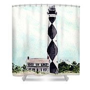 Cape Lookout Lighthouse Outer Banks North Carolina Shower Curtain