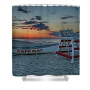 Cape May At Sunrise - Cape May New Jersey Shower Curtain