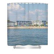 Cape May Beach Scene Shower Curtain
