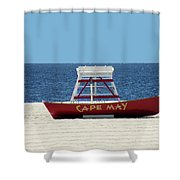 Cape May Lifeguard Station Boat Shower Curtain