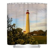 Cape May Lighthouse In Spring Shower Curtain