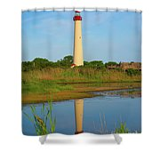 Cape May Morning Reflection Shower Curtain