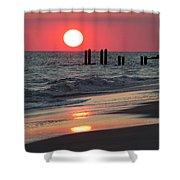 Cape May Nj Sunset, Philadelphia Beach Shower Curtain