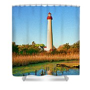 Cape May Point Lighthouse Shower Curtain