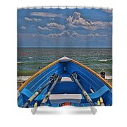 Cape May N J Rescue Boat 2 Shower Curtain
