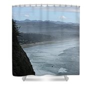 Cape Meares Coastline Shower Curtain