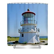 Cape Mendocino Lighthouse Shower Curtain