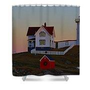 Cape Neddick Light Shower Curtain