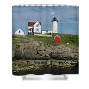 Cape Neddick Light Shower Curtain