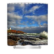 Cape Neddick Lighthouse Shower Curtain by Rick Berk