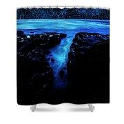 Cape Perpetua Blue Night Shower Curtain