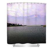 Cape Poge Bay At Martha's Vineyard Shower Curtain