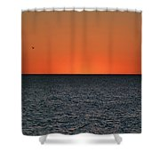 Cape San Blas Sunset Shower Curtain