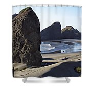 Cape Sebastian - Hunters Cove Area- Oregon Coast Shower Curtain