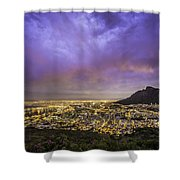 Cape Town From Signal Hill At Sunset Shower Curtain